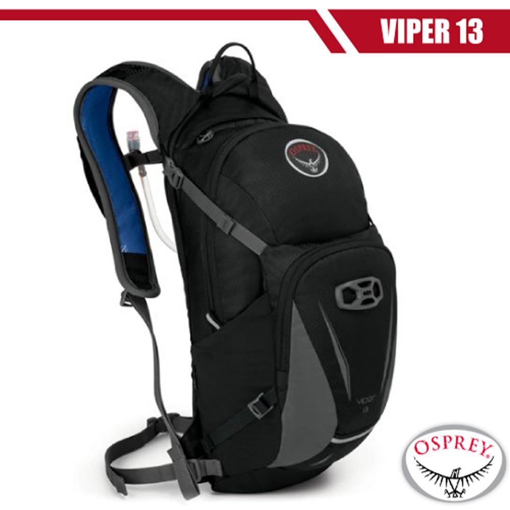 【美國 OSPREY】Viper 13L 多功能自行車水袋背包(含2.5L水袋).適休閒旅遊.健行登山.越野跑步/黑 DV