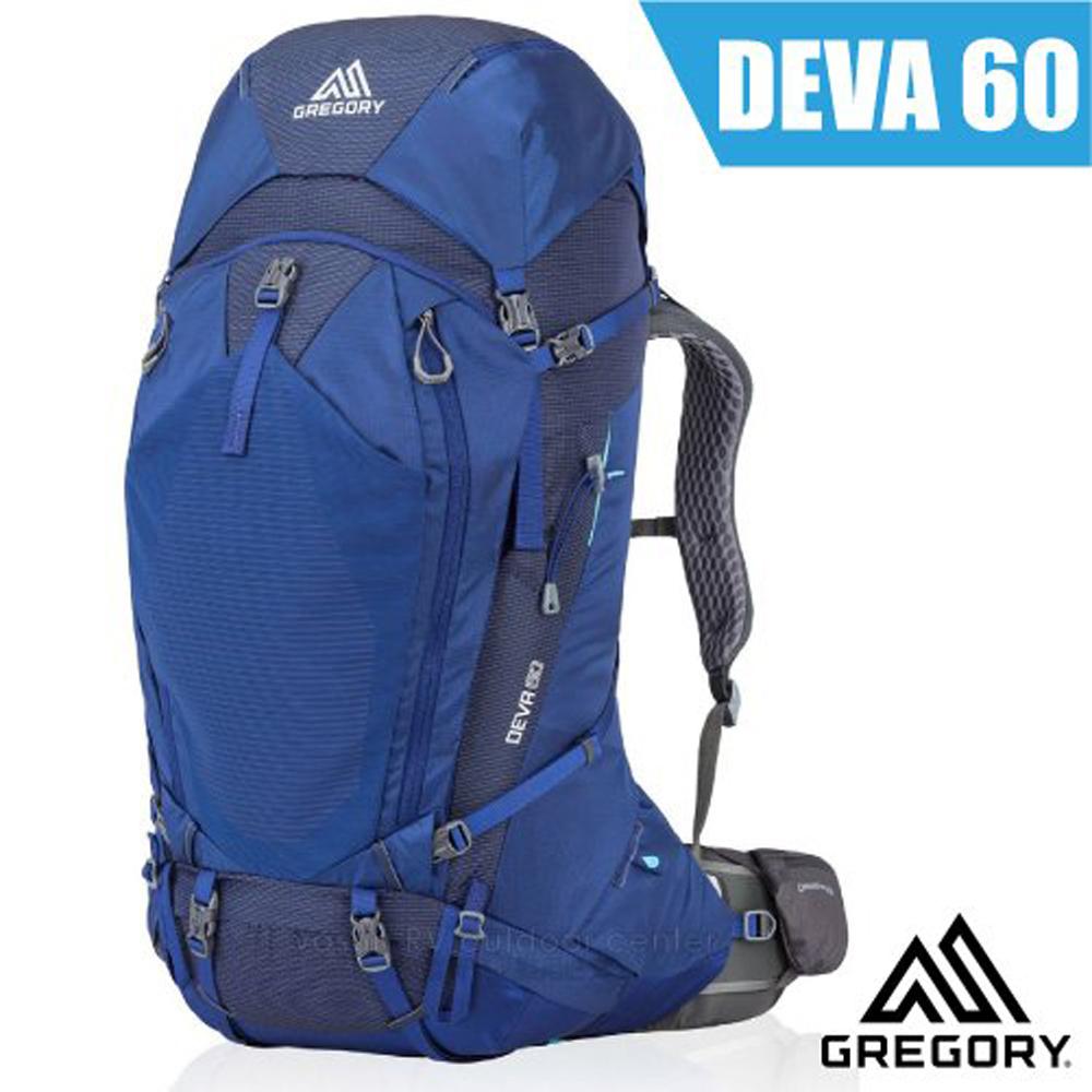 【美國 GREGORY】女新款 DEVA 60L 專業健行登山背包S(附全罩式防雨罩)_91622 夜景藍