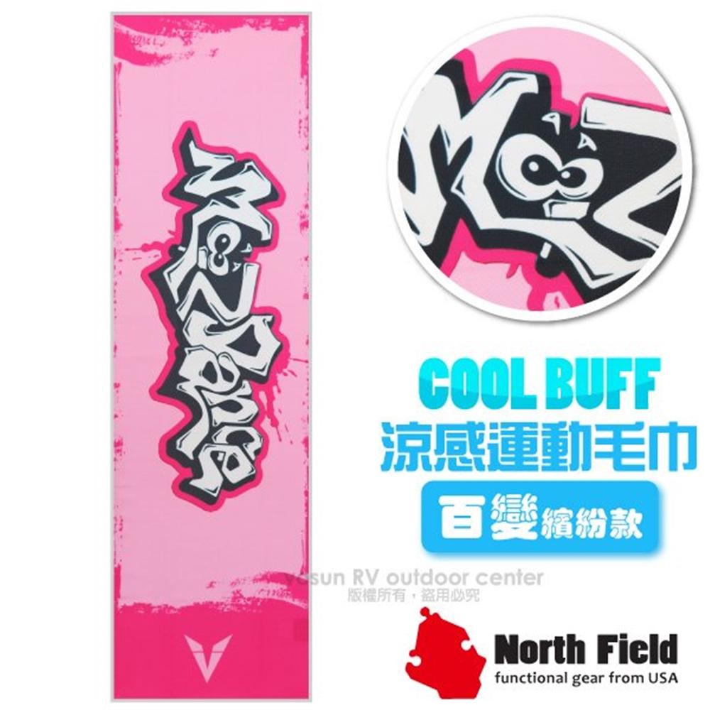 【美國 North Field】COOL BUFF 百變繽紛款 降溫速乾吸濕排汗涼感運動毛巾/加長型防曬/NF-077 動感粉紅