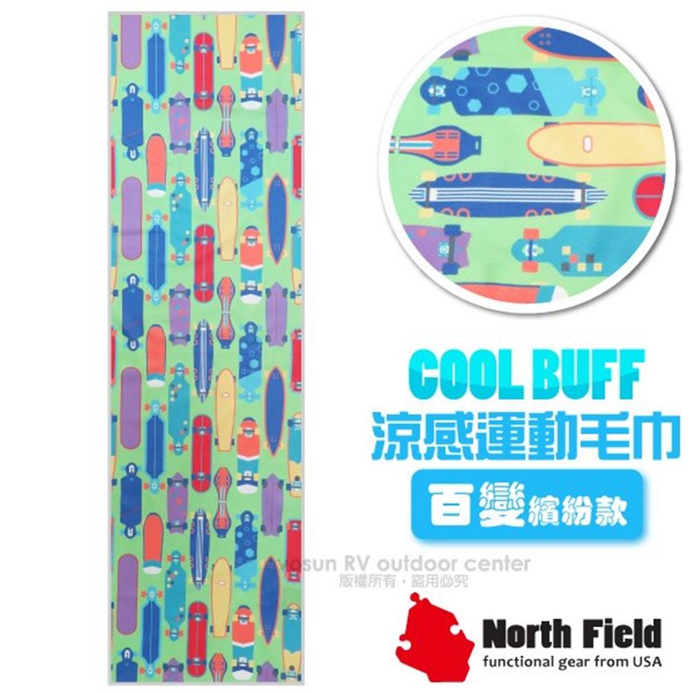 【美國 North Field】COOL BUFF 百變繽紛款 降溫速乾吸濕排汗涼感運動毛巾/NF-077 滑板世界