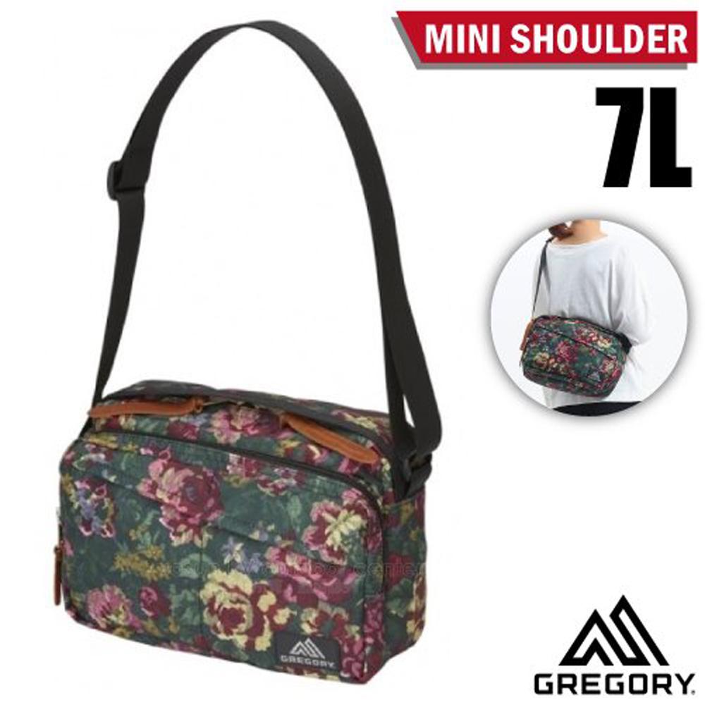 【美國 GREGORY】Mini Shoulder 7L 可調式側背包(多口袋+鑰匙鉤環+高品質YKK拉鍊)/125405 花園油彩