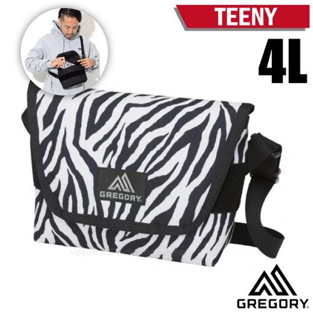 【美國 GREGORY】TEENY 4L 超輕可調式側背包(主袋魔鬼氈+鑰匙鉤環+高品質YKK拉鍊)/110148 斑馬紋