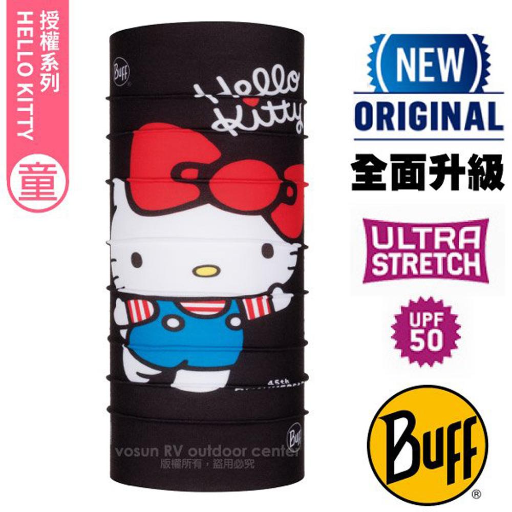 【西班牙 BUFF】Kitty授權 兒童/青少年 ORIGINAL PLUS 新經典Polygiene萬用魔術頭巾/121573 Kitty 45週年