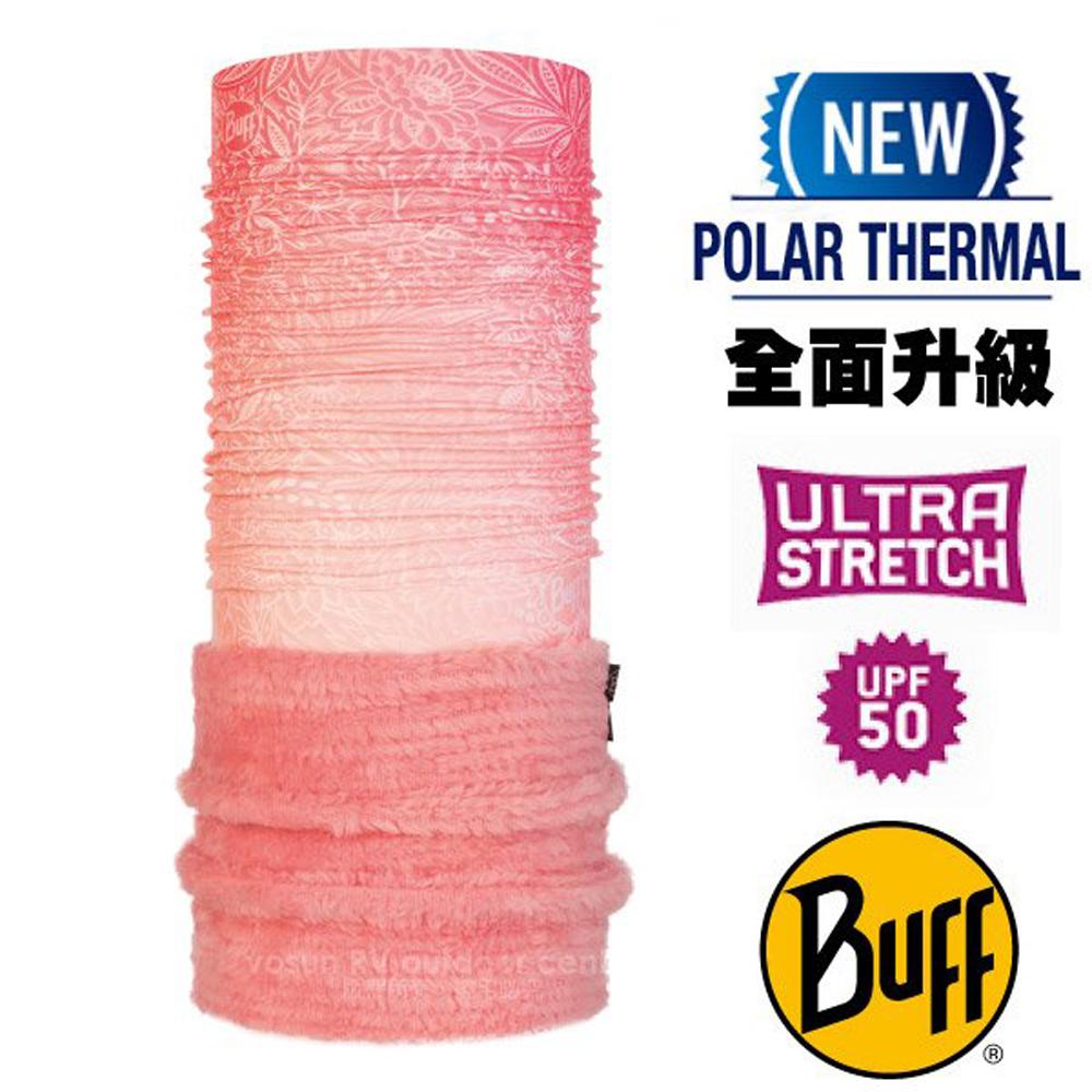 【西班牙 BUFF】Polar Thermal 超彈性保暖魔術頭巾 Plus(吸溼排汗+抗菌除臭)/120933 粉紅繁花