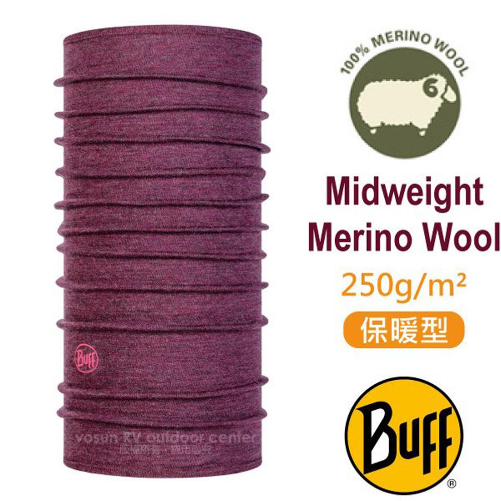【西班牙 BUFF】保暖織色 Merino 美麗諾羊毛中量級超彈性恆溫保暖魔術頭巾_113022 紫色大理花