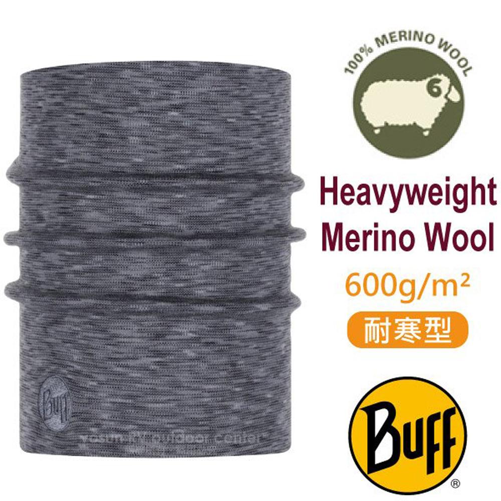 【西班牙 BUFF】耐寒條紋 Merino 美麗諾羊毛重量級超彈性恆溫保暖魔術領巾_117821 編織霧灰