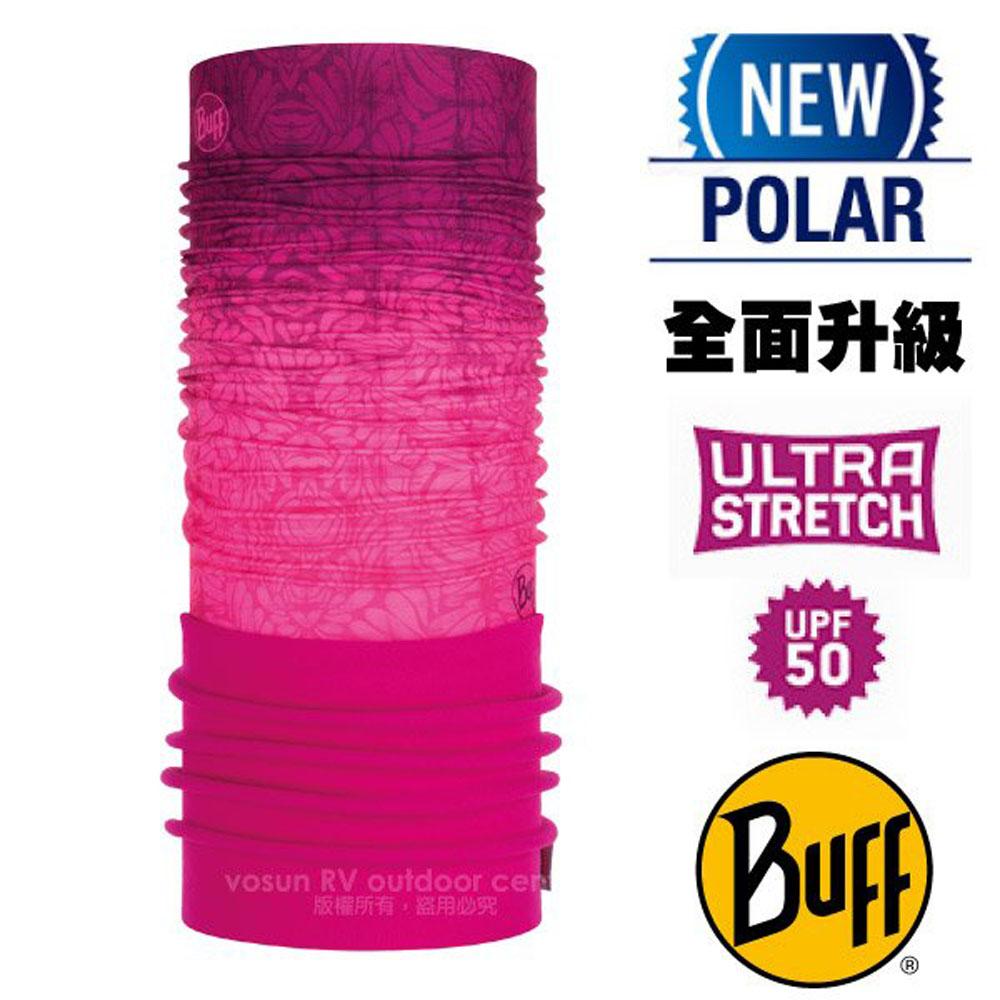 【西班牙 BUFF】超彈性 Polar保暖魔術頭巾 Plus(上層吸溼排汗+下層柔軟刷毛)/120899 番紅之戀