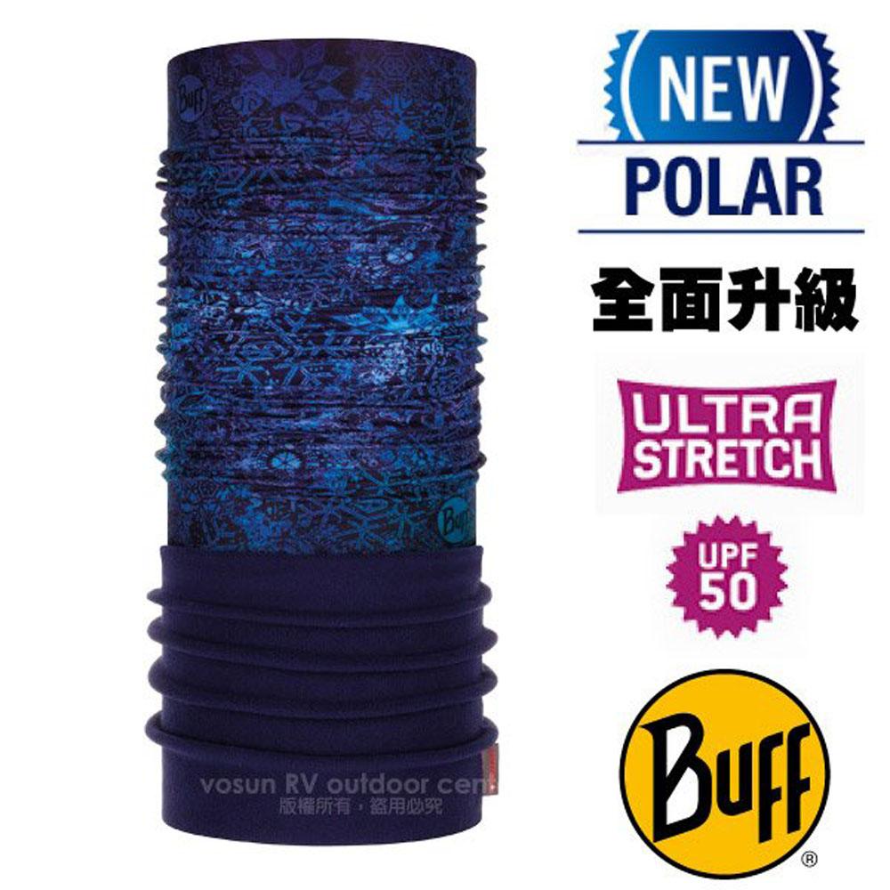【西班牙 BUFF】超彈性 Polar保暖魔術頭巾 Plus(上層吸溼排汗+下層柔軟刷毛)/120897 雪花童話
