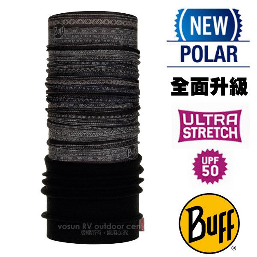 【西班牙 BUFF】超彈性 Polar保暖魔術頭巾 Plus(上層吸溼排汗+下層柔軟刷毛)/120893 神祕圖騰