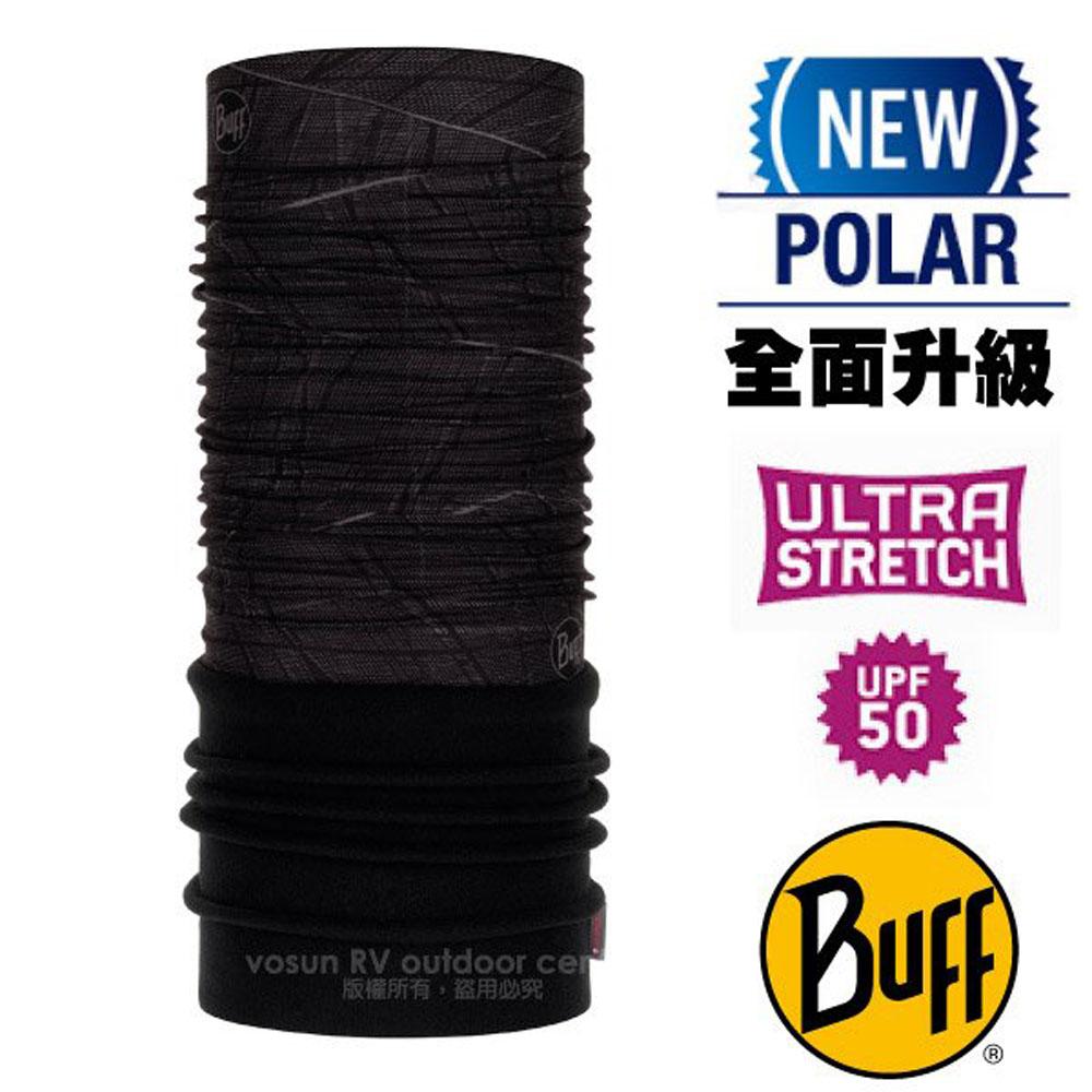【西班牙 BUFF】超彈性 Polar保暖魔術頭巾 Plus(上層吸溼排汗+下層柔軟刷毛)/120892 黑夜降臨