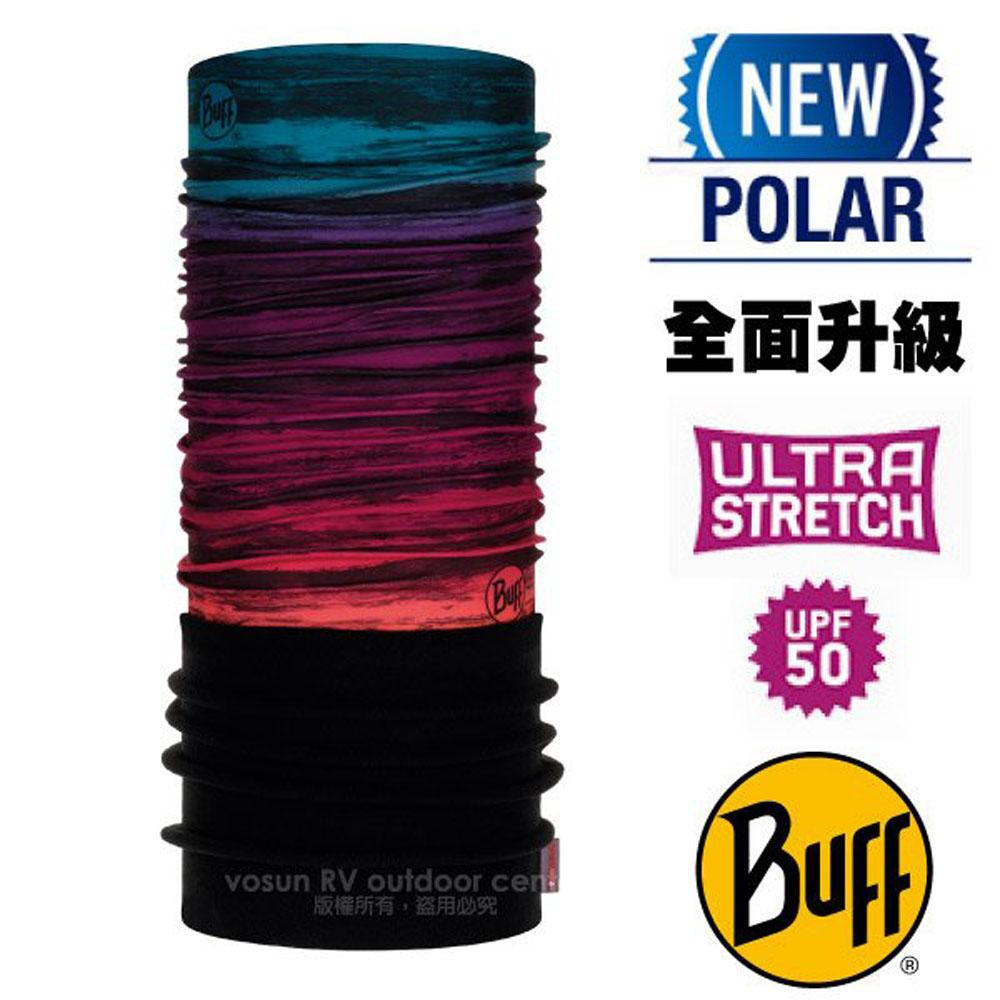 【西班牙 BUFF】超彈性 Polar保暖魔術頭巾 Plus(上層吸溼排汗+下層柔軟刷毛)/120895 午夜紫迷