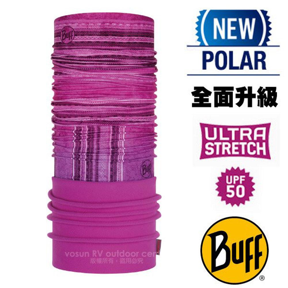 【西班牙 BUFF】超彈性 Polar保暖魔術頭巾 Plus(上層吸溼排汗+下層柔軟刷毛)/120921 拼接玫紅