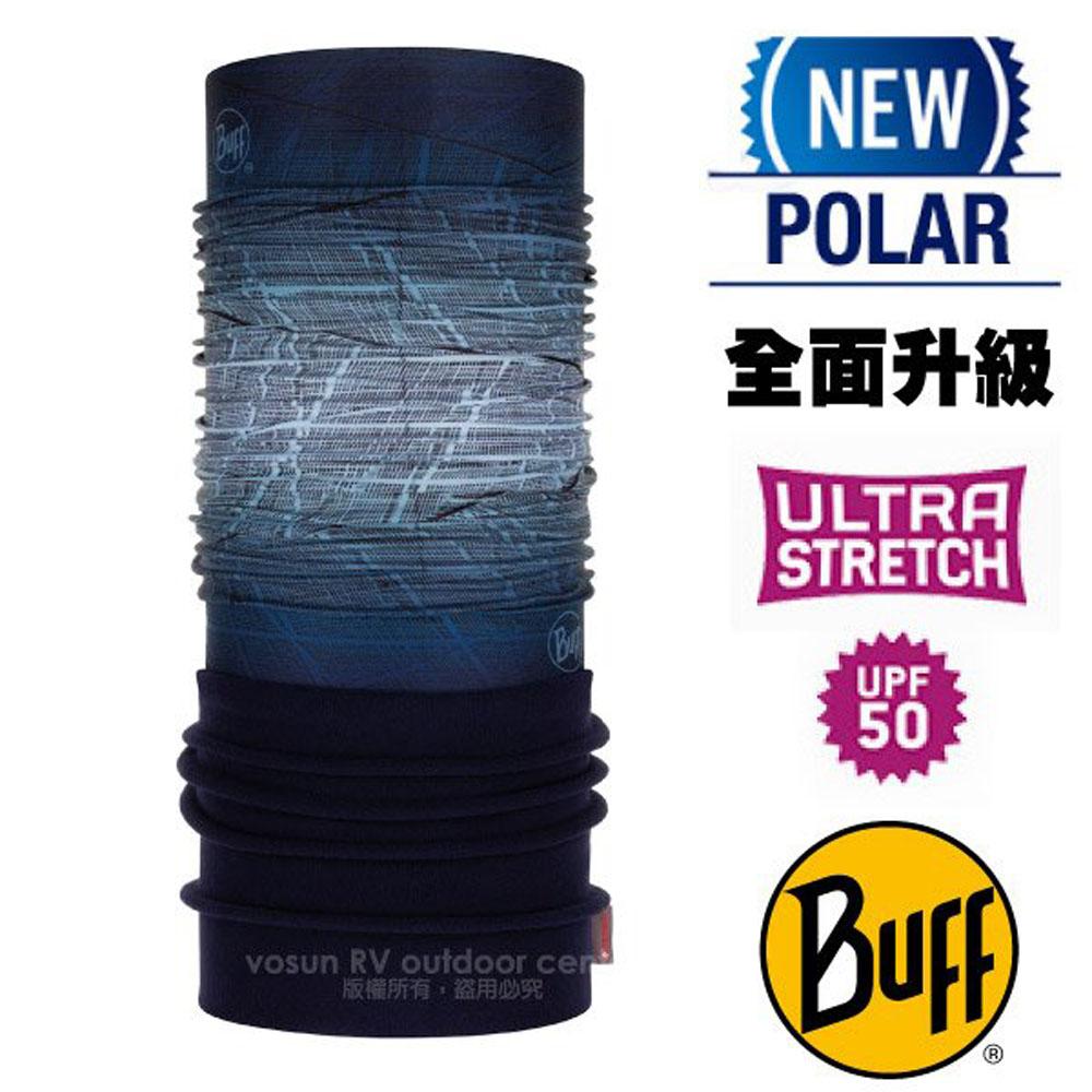 【西班牙 BUFF】超彈性 Polar保暖魔術頭巾 Plus(上層吸溼排汗+下層柔軟刷毛)/120915 藍灰漸層