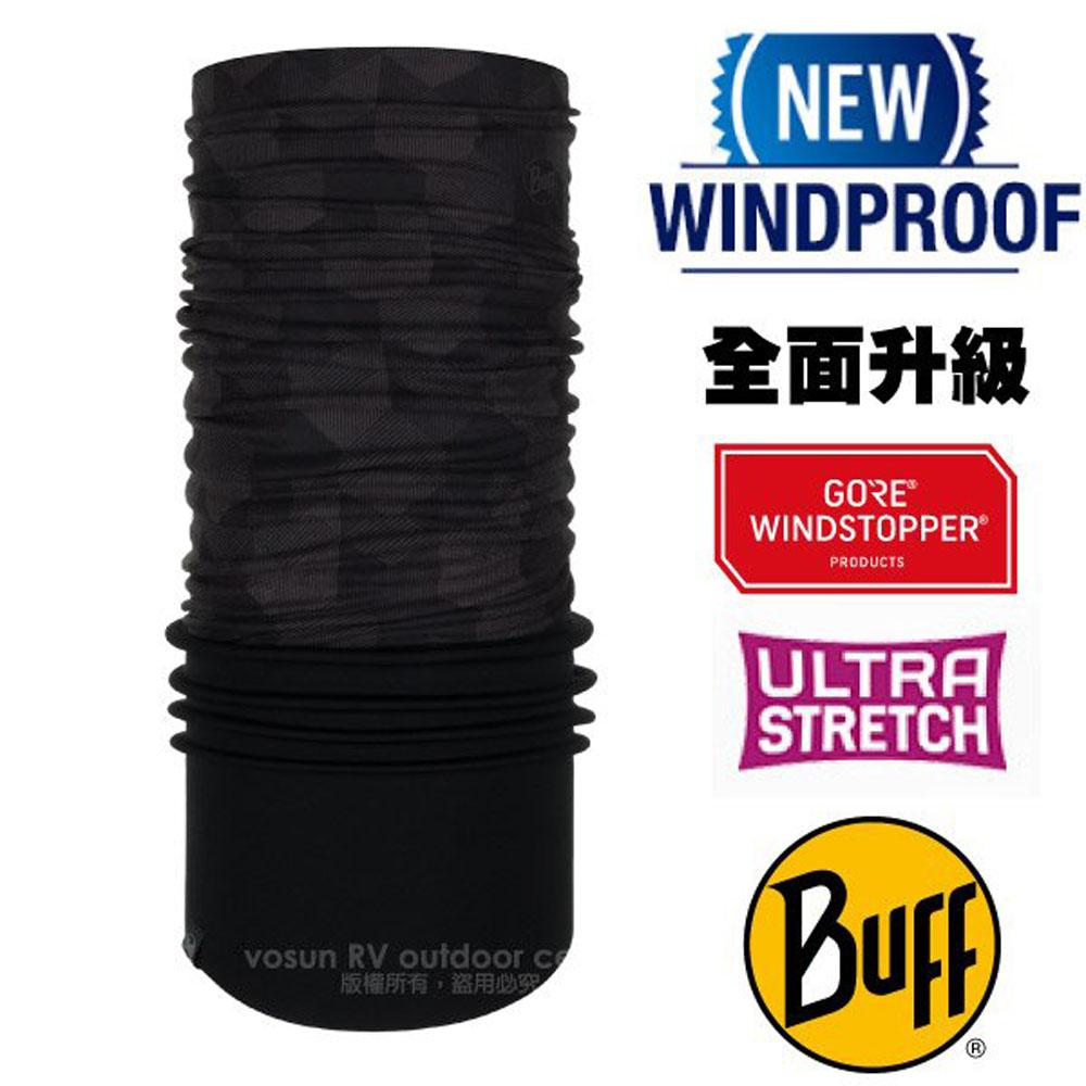 【西班牙 BUFF】Windstopper防風保暖魔術頭巾(吸溼排汗+抗菌除臭.銀離子Polygiene)/121522 幾何立方