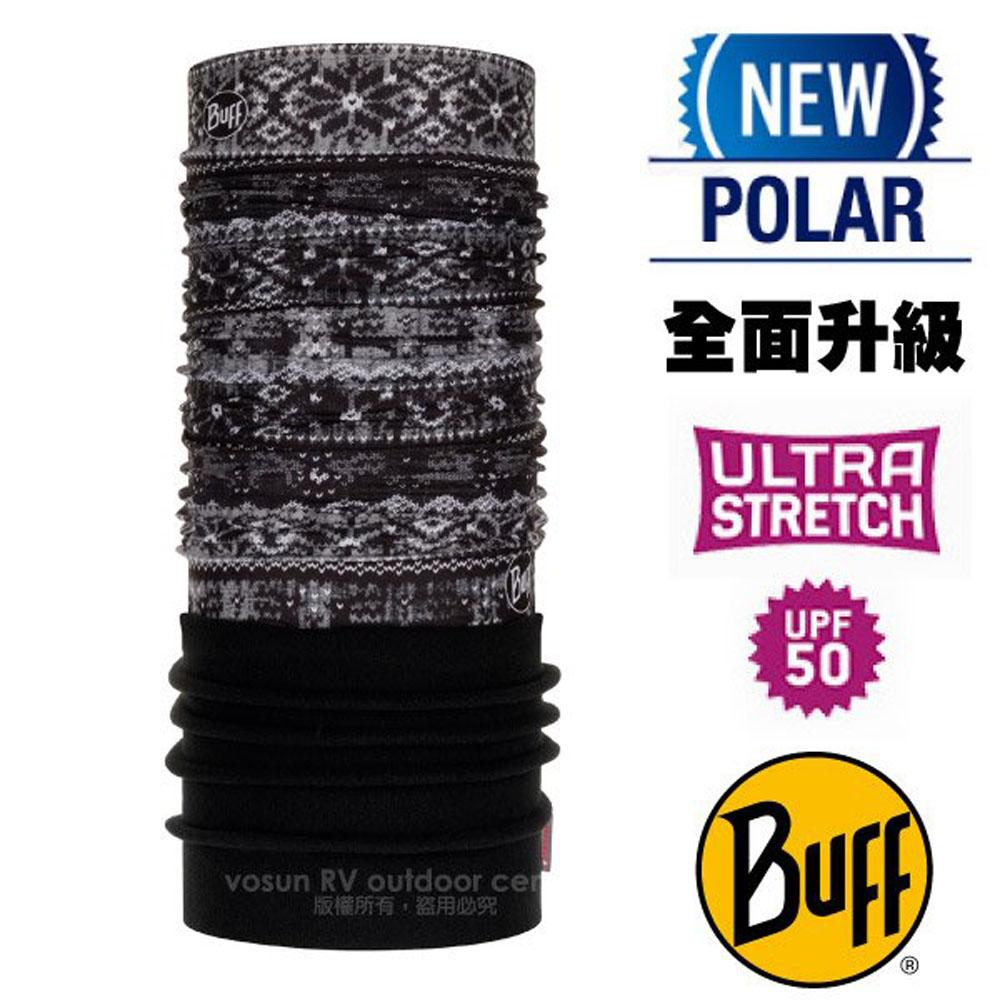 【西班牙 BUFF】超彈性 Polar保暖魔術頭巾 Plus(上層吸溼排汗+下層柔軟刷毛)/120909 阿萊奇冰川