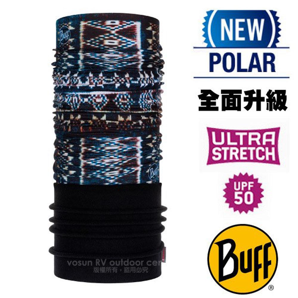 【西班牙 BUFF】超彈性 Polar保暖魔術頭巾 Plus(上層吸溼排汗+下層柔軟刷毛)/120904 原民圖騰