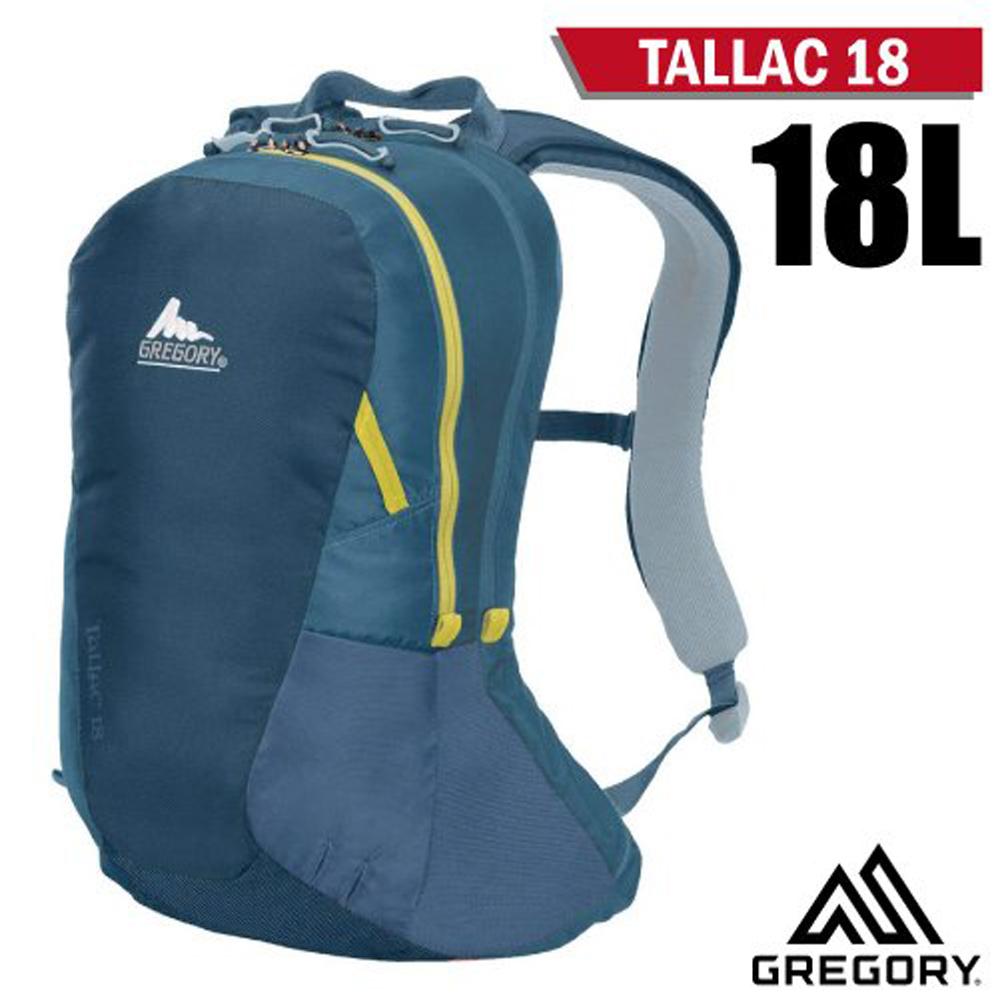 【美國 GREGORY】Tallac 18 輕量多功能運動背包18L(採用420D布料_可放置筆電_59965 藍綠