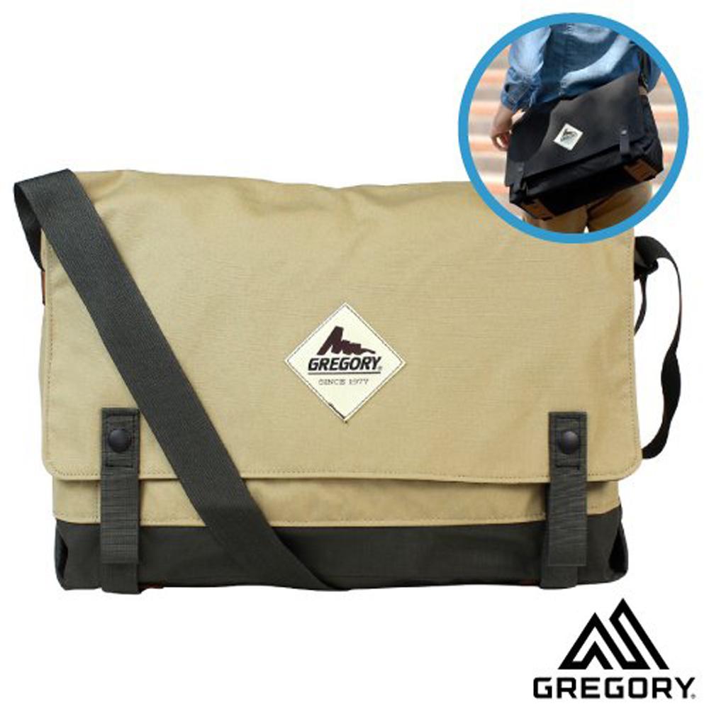【美國 GREGORY】Boardwalk Shoulder 超輕可調式側背包(多口袋設計+高品質YKK拉鍊)_卡其