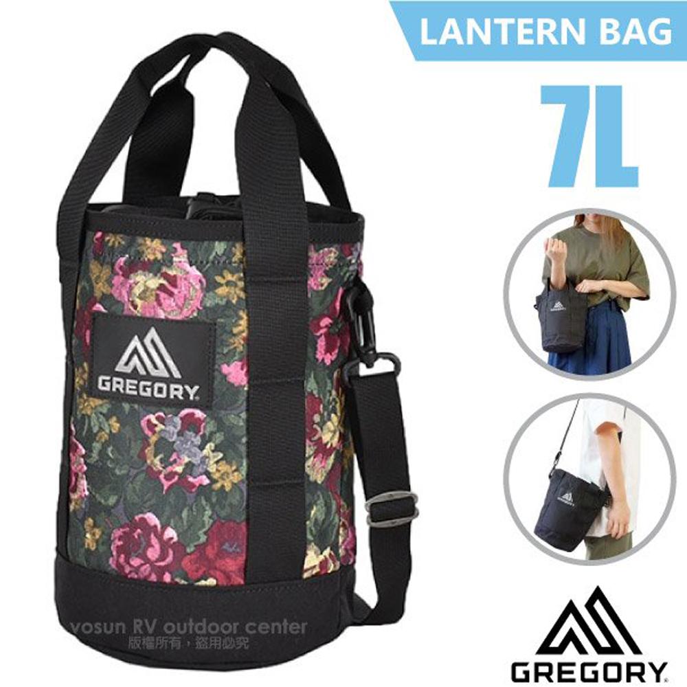【美國 GREGORY】LANTERN BAG 7L 圓筒型側背包.手提包.隨身提袋/可拆卸調節肩帶/130299 花園油彩