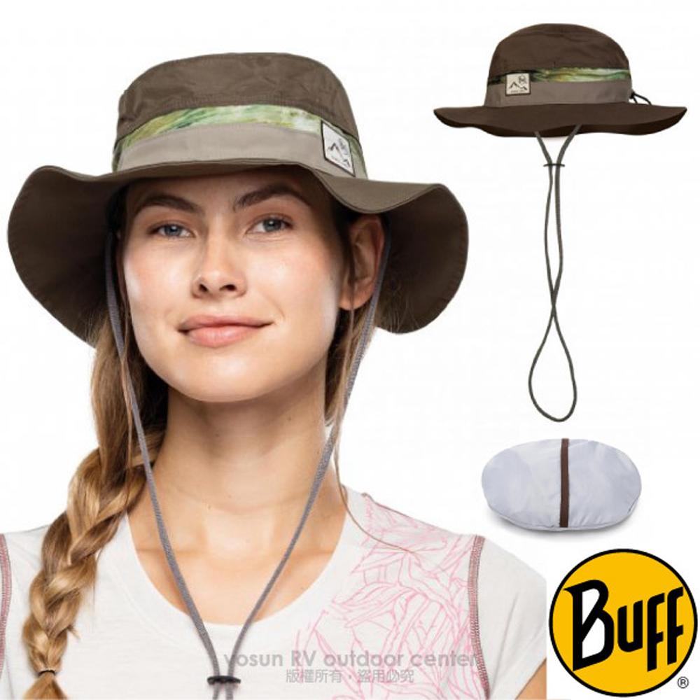 【西班牙 BUFF】高防曬 Booney Hat 抗UV可收納圓盤帽(輕量快乾.可折疊收納.UPF 50+)/119527 蔭涼卡其