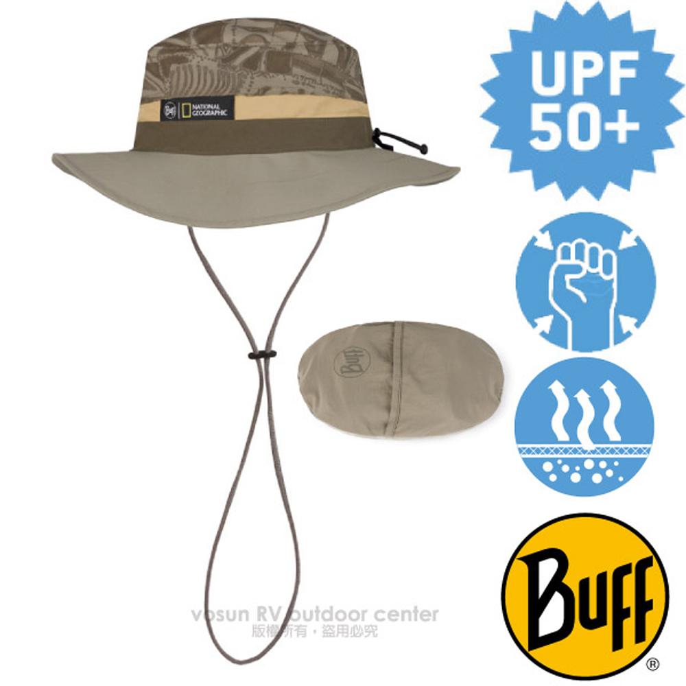 【西班牙 BUFF】高防曬 Booney Hat 抗UV可收納圓盤帽(輕量快乾.可折疊收納.UPF 50+)/122617 考古印記