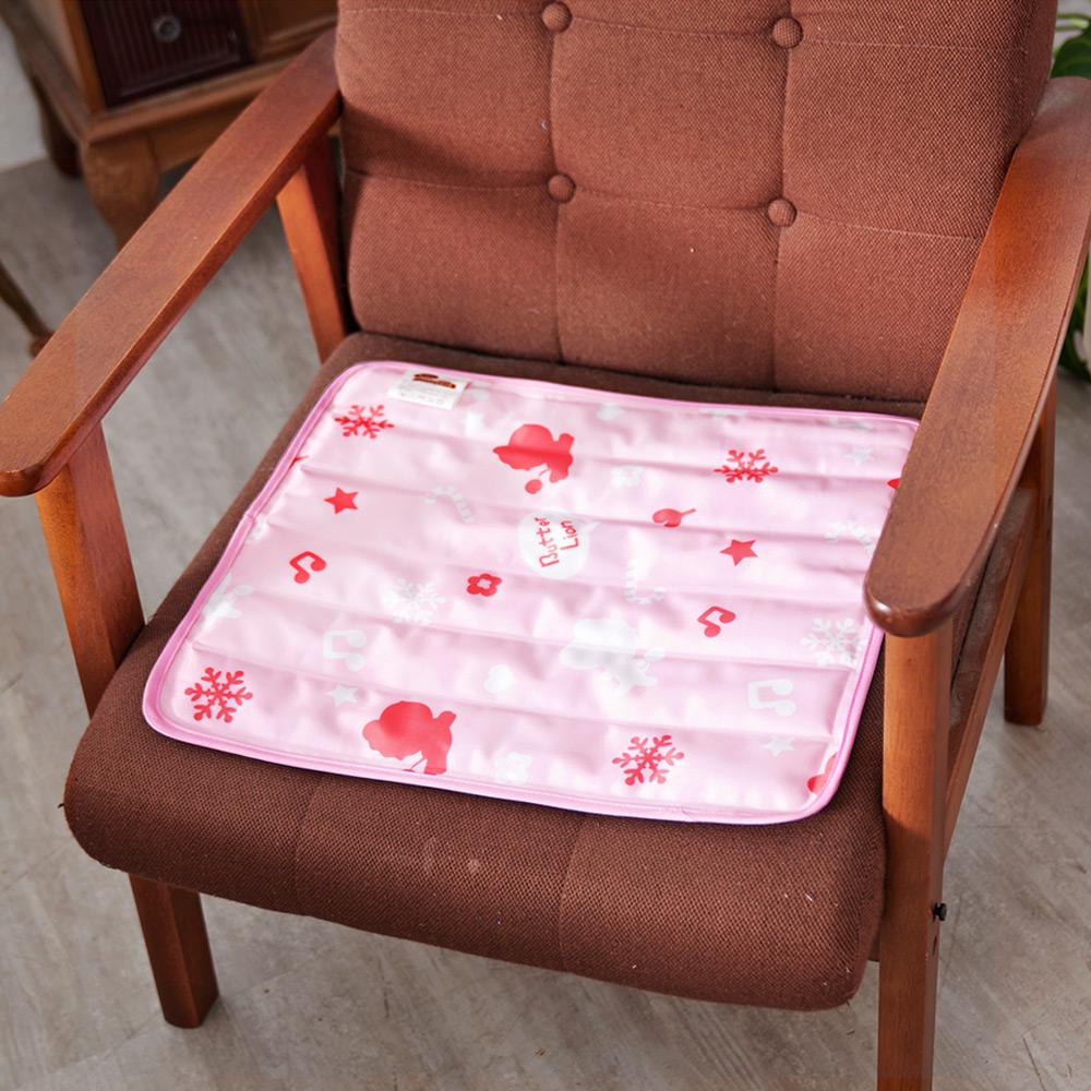 【奶油獅】雪花樂園-長效型降6度涼感冰砂冰涼墊/辦公坐墊/椅墊-30x40cm(一入)
