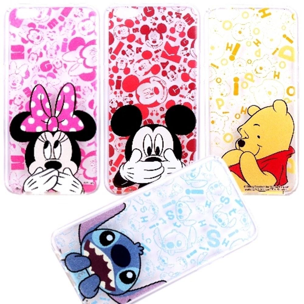 【Disney】OPPO R9s (5.5吋) 摀嘴系列 彩繪透明保護軟套