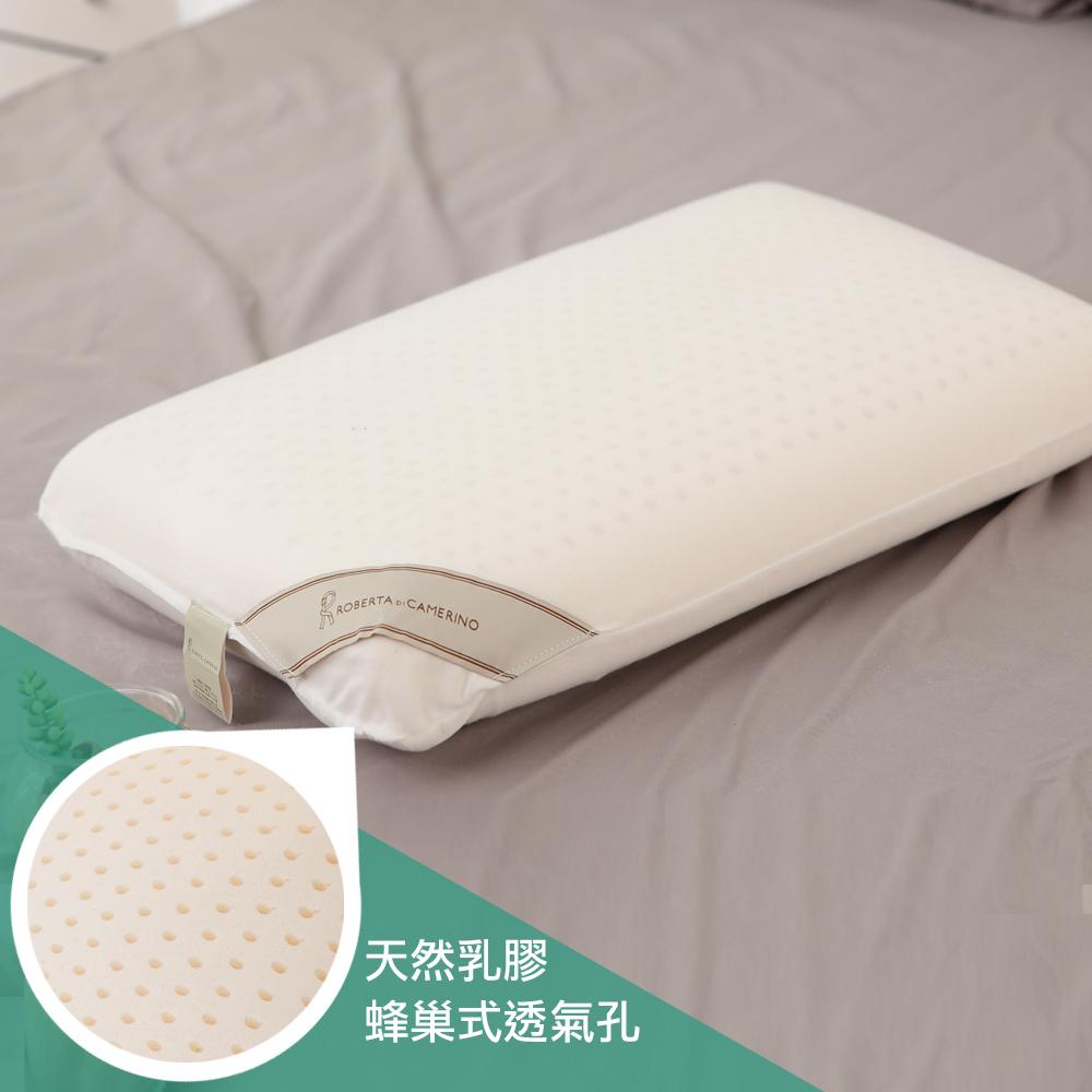 【ROBERTA DI CAMERINO諾貝達】100%天然乳膠平面麵包枕2入組
