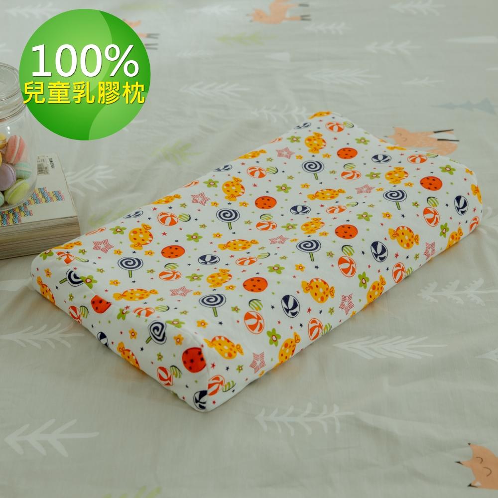 【Leafbaby】100%天然乳膠兒童枕1入-星空棒棒糖