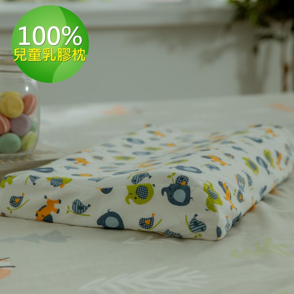 【Leafbaby】100%天然乳膠兒童枕2入-動物方程式