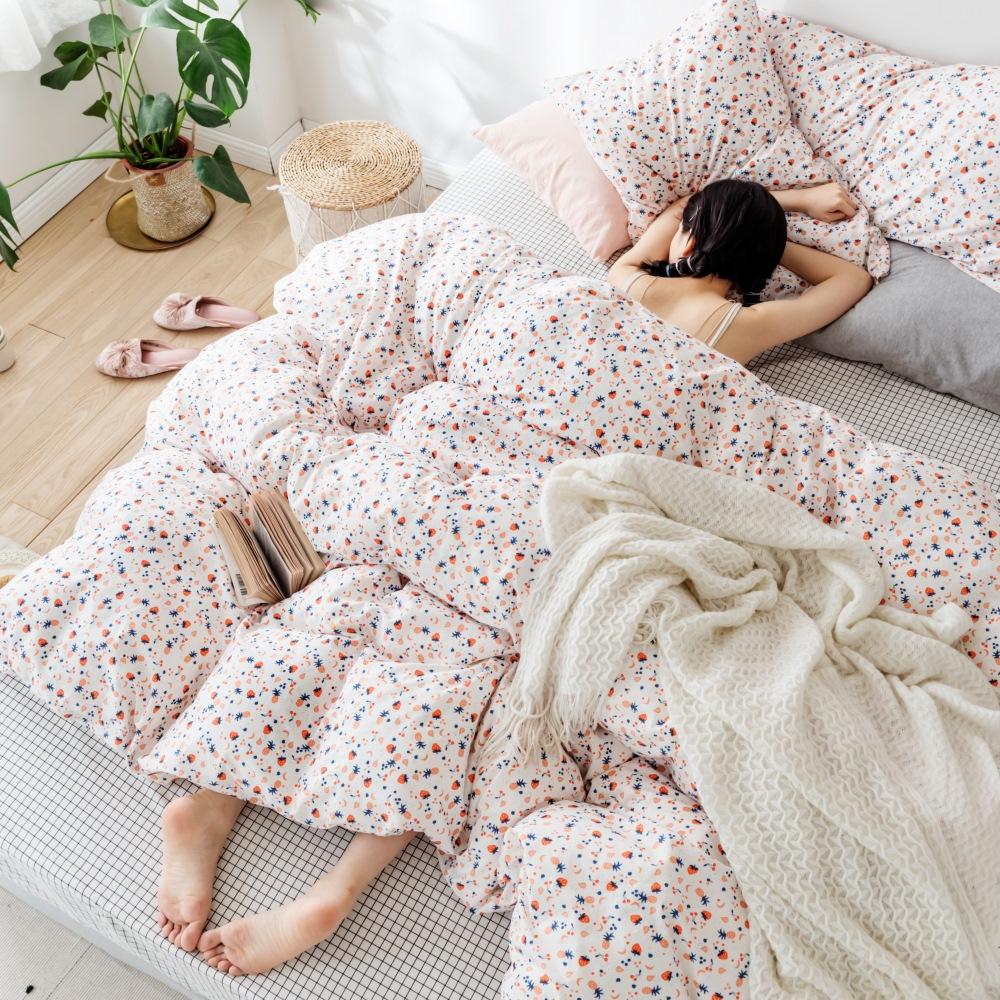 【KOKOMO'S扣扣馬】MIT天然精梳棉200織紗單人床包2件組-粉點醉愛