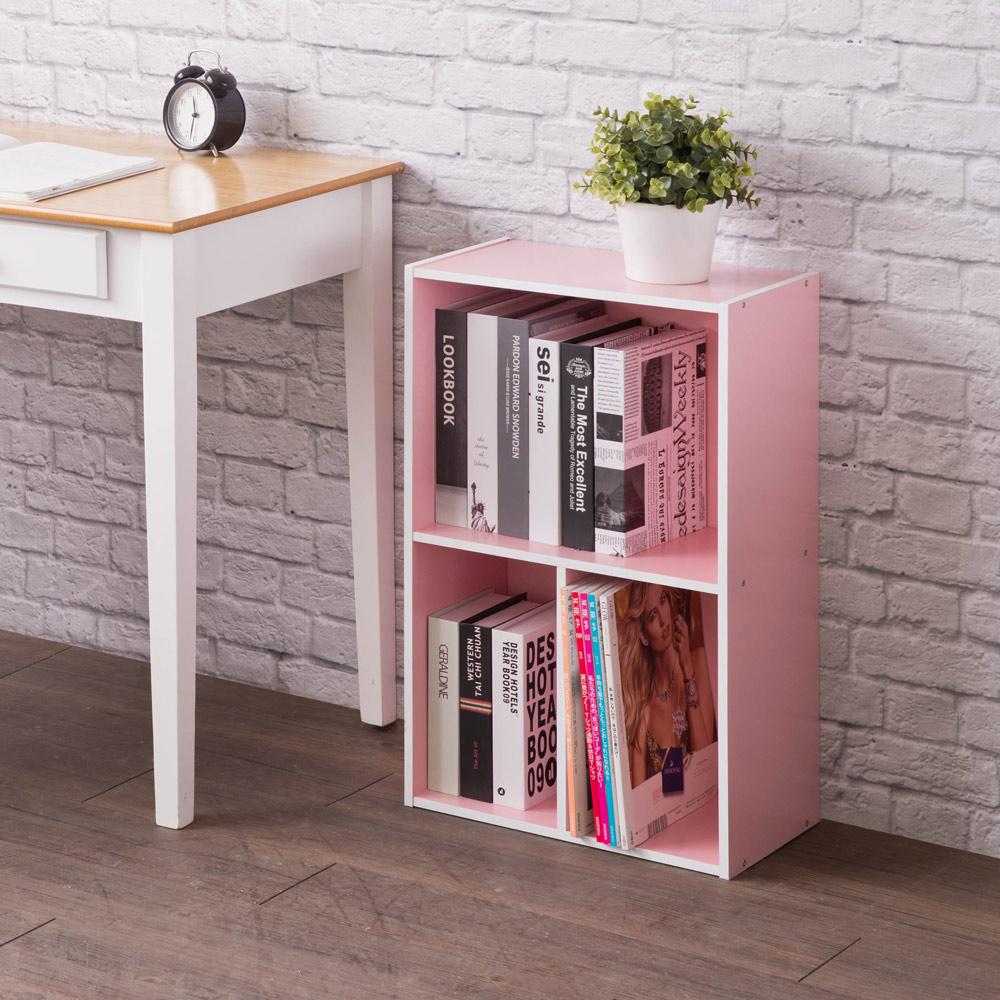 【TZUMii】 亞瑟三格收納櫃-粉紅色