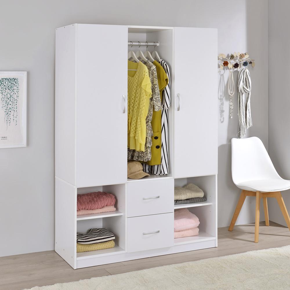 【TZUMii】 雅緻雙門二抽衣櫃-白色
