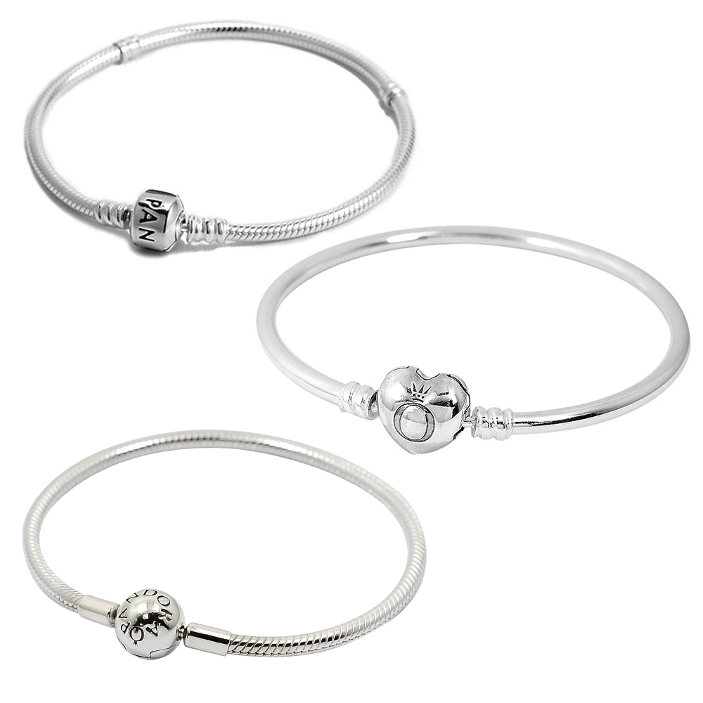 Pandora 潘朵拉 經典925純銀手鍊手環(17cm/18cm多款可選)