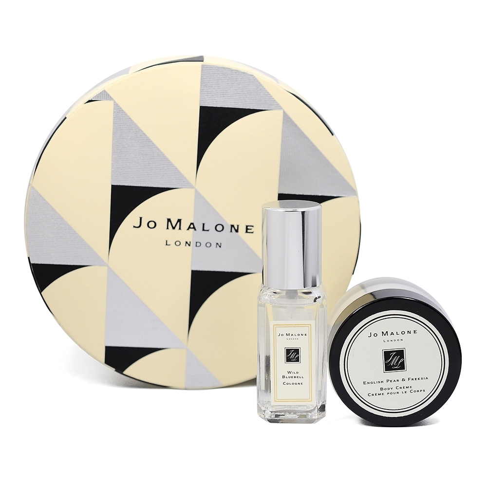 Jo Malone 2020聖誕限量 迷你香氛組(藍風鈴9ml+英國梨與小蒼蘭乳霜15ml)