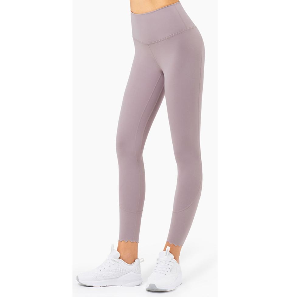 (買就送 發光跳繩)RAY FAIR 波浪腳口造型瑜珈褲(多色可選)_薰衣草紫M