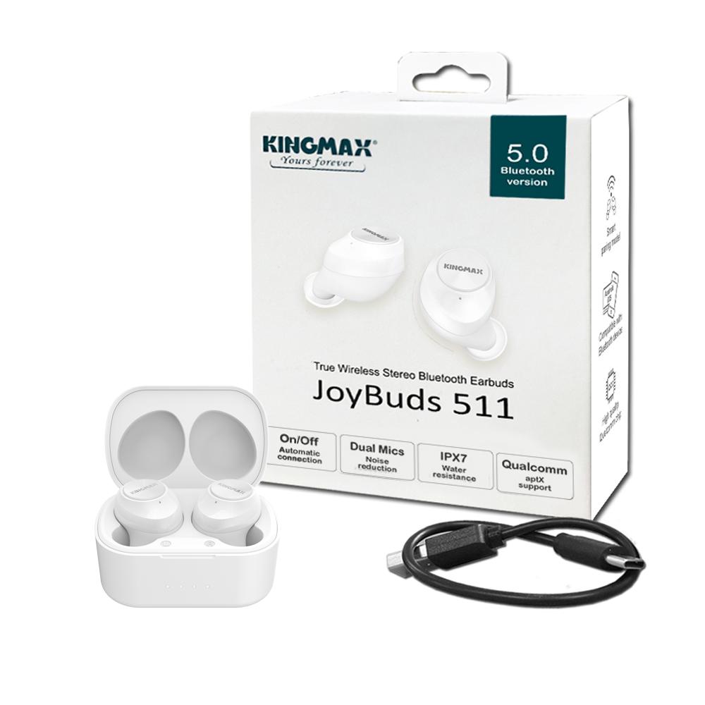 KINGMAX JoyBuds 511 真無線立體聲藍牙耳機 (經典白)