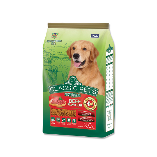【CP】加好寶經典乾狗糧-牛肉口味-2kg x 6包/箱