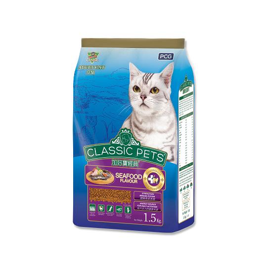 【CP】加好寶經典乾貓糧-海鮮口味 1.5kg