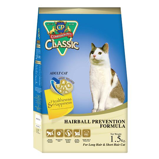 【CP】經典乾貓糧-化毛配方1.5kg