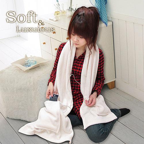 棉花田【樂邁】超細纖維創意保暖圍巾-奶白色(46x190cm)_奶白色(46x190cm)