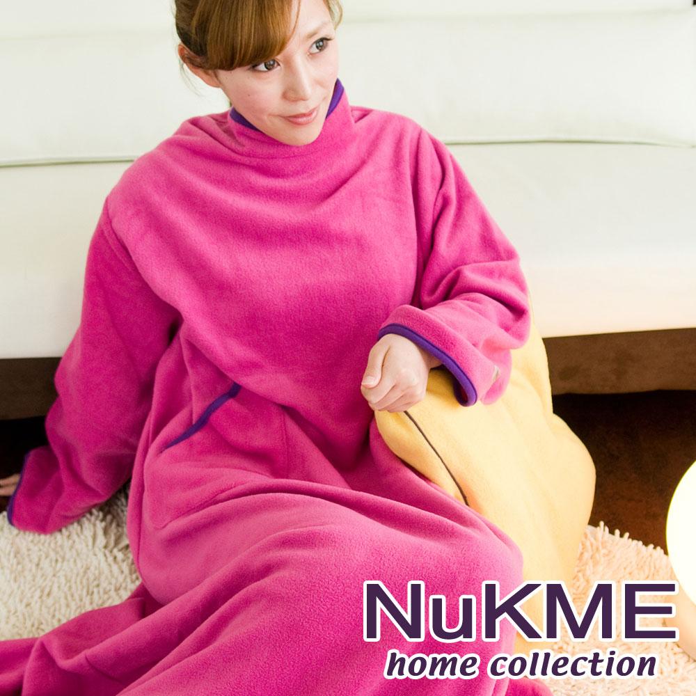 棉花田【NuKME】時尚多功能創意袖毯-粉紅色