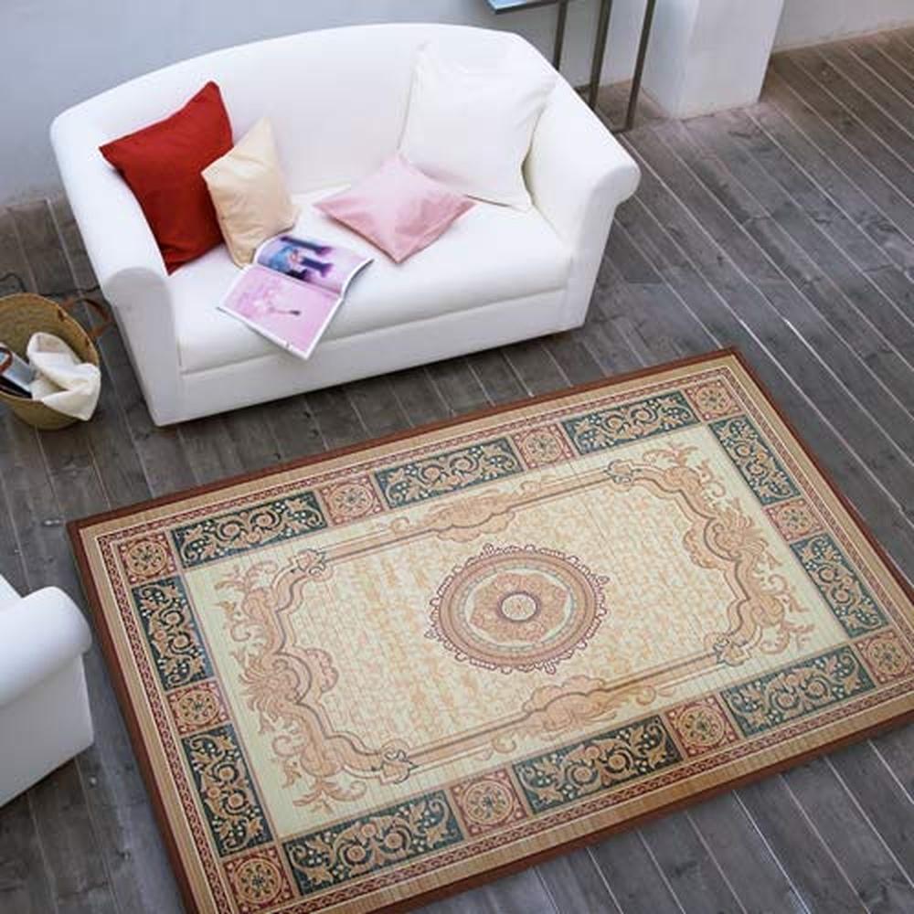 棉花田【伯爵】天然防滑竹地毯(100x140cm)