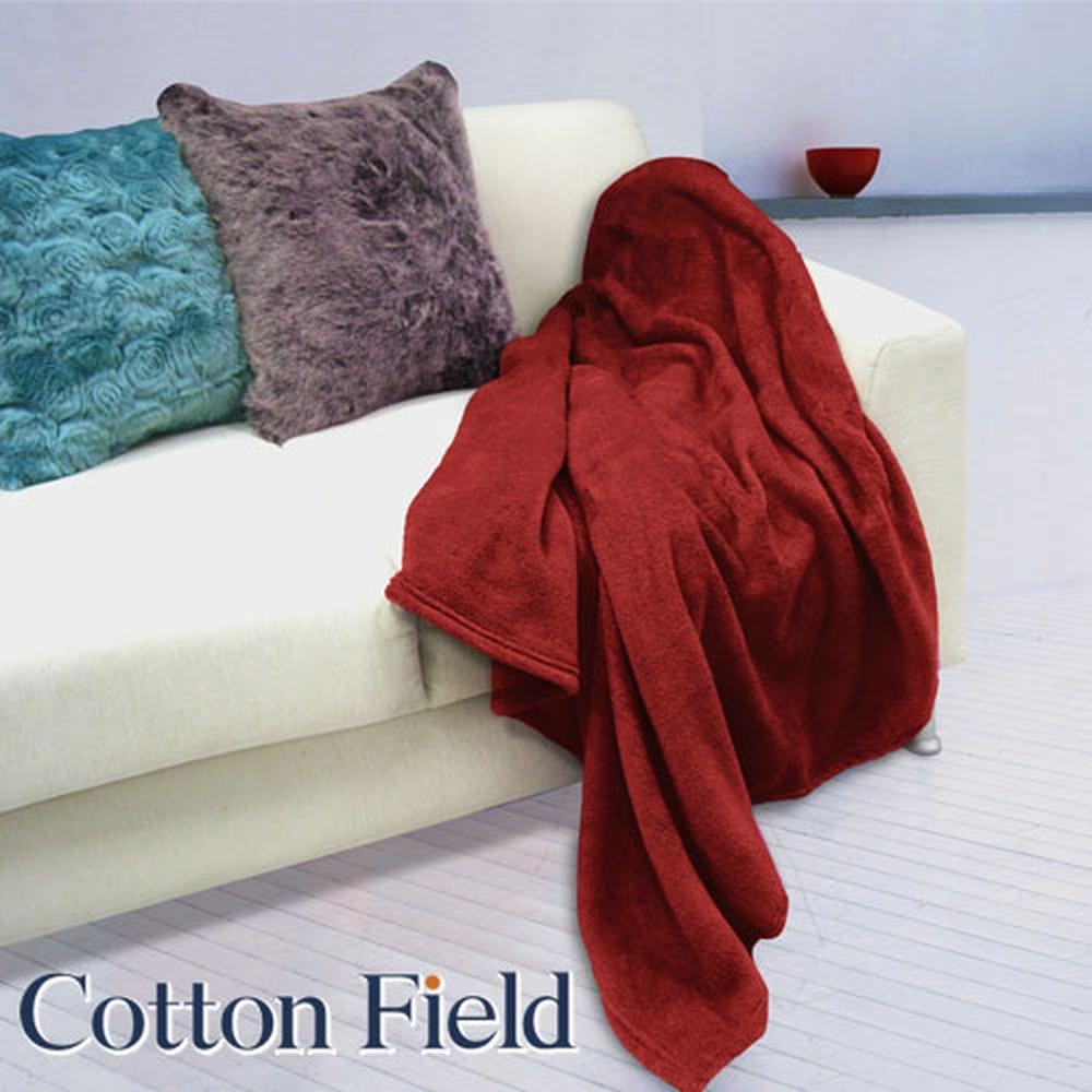 棉花田【菲柔】超細纖維超柔隨意毯-紅色(130X170cm)