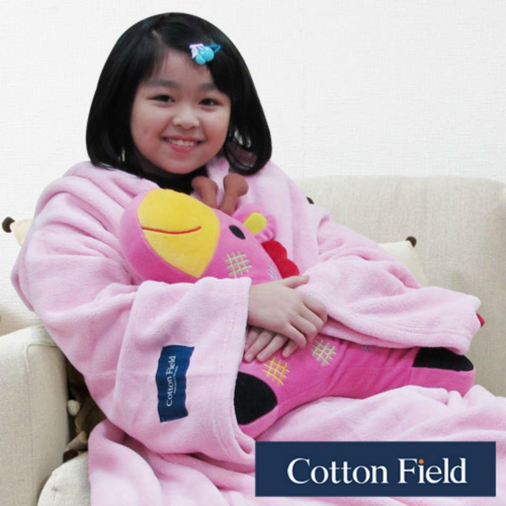 棉花田【樂邁】超細纖維兒童創意袖毯-粉紅色(120x140cm)
