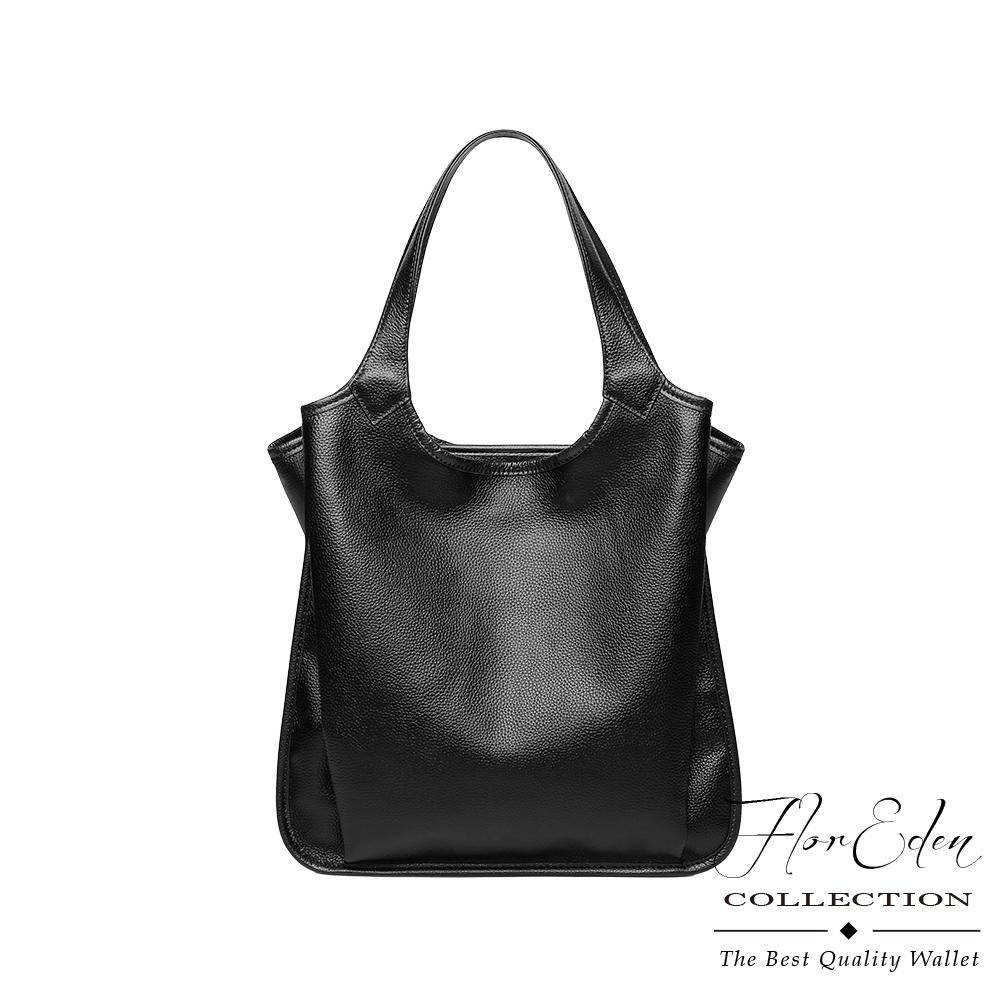 DF Flor Eden -歐美時尚真皮多隔層大容量手提單肩包