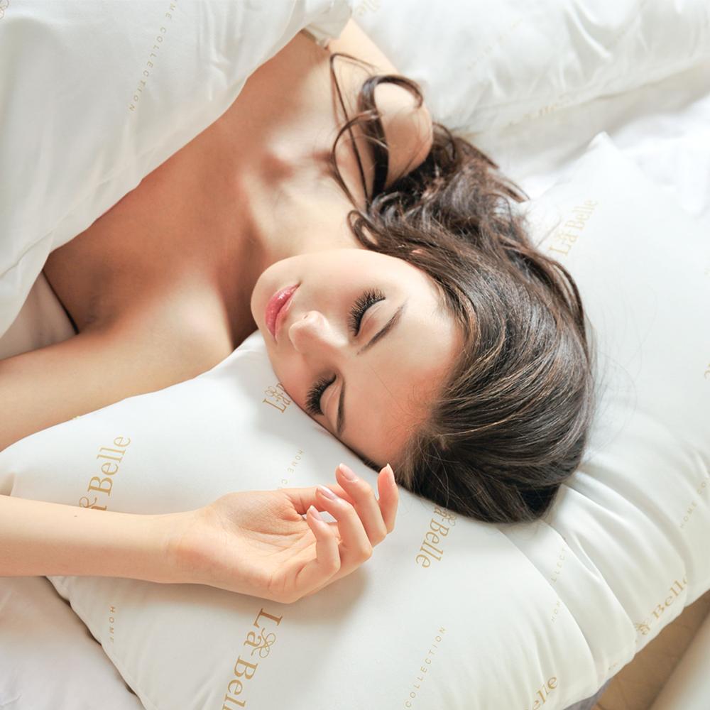 義大利La Belle《經典純色》防蹣抗菌舒眠壓縮枕 --二入