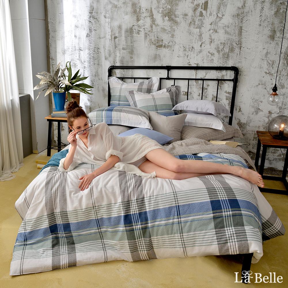 義大利La Belle《自由概念》加大水洗棉防蹣抗菌吸濕排汗兩用被床包組