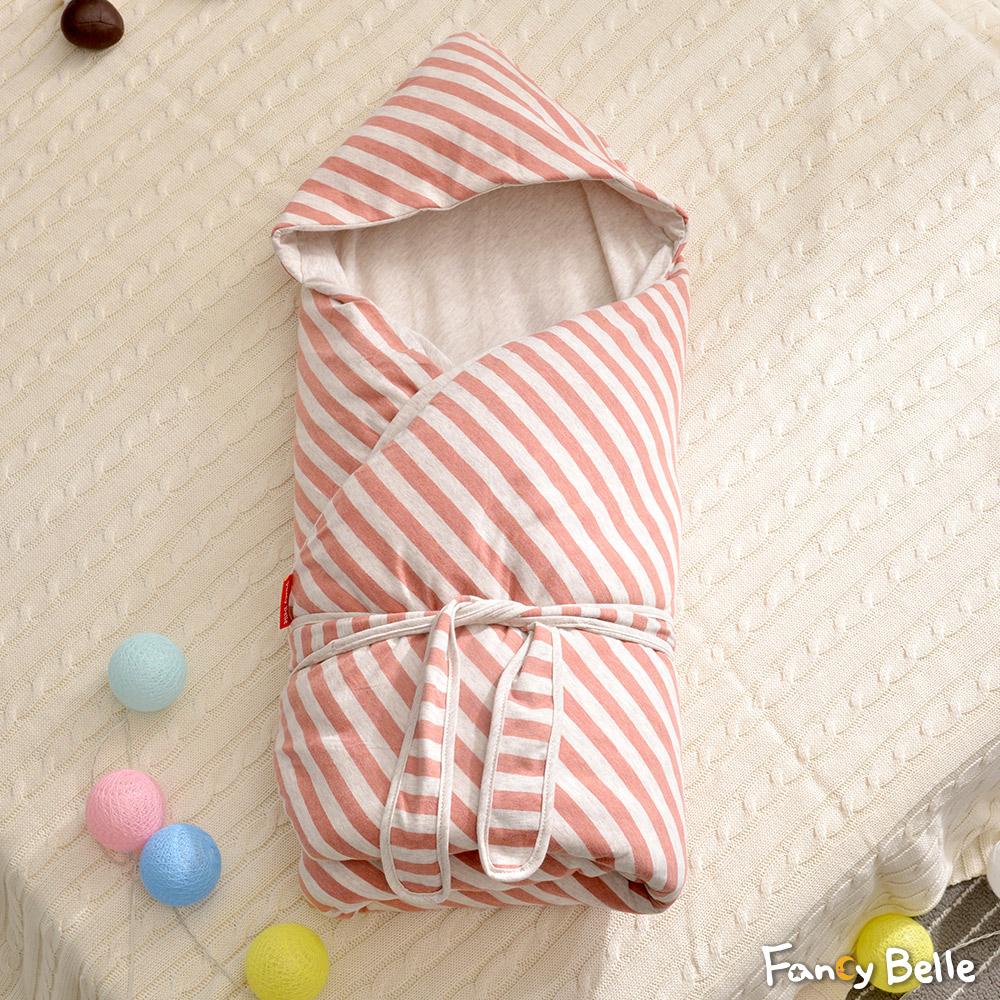 義大利Fancy Belle《斯卡線曲-紅》色坊針織兒童包巾兩用被(90*90CM)