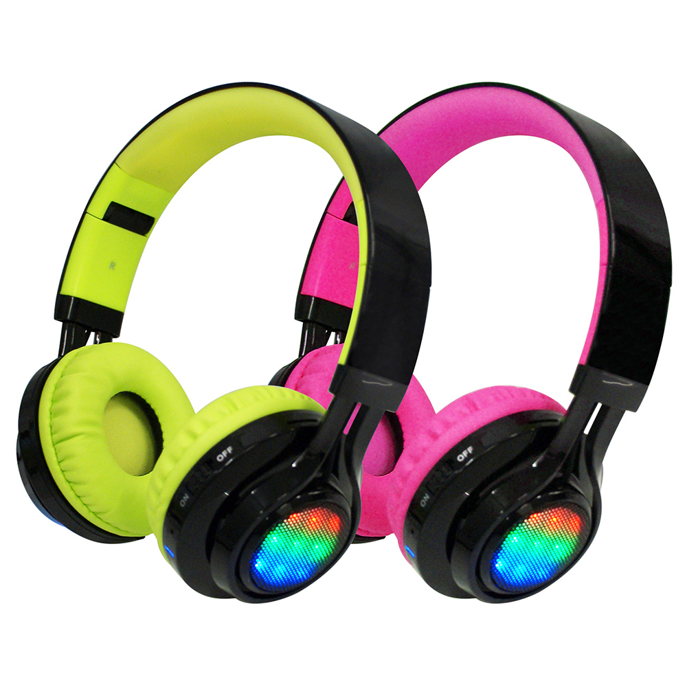 AB-005 全罩式LED炫光無線藍牙耳機麥克風(支援TF插卡/AUX音頻輸入)
